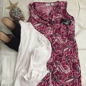 🆕LISTING ✨🛍Kim Rogers Pink/Black/White 👗